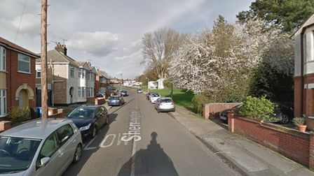 Police searched a man on Sherrington Road