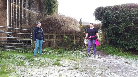 Sidmouth runners enjoying the snow