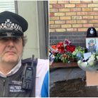 Flowers laid for Camden police constable John Fabrizi