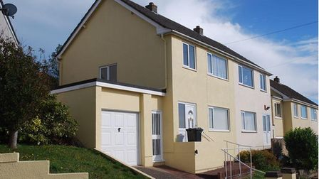 The semi-detached property in Lower Audley Road, Torquay