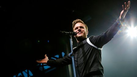 Olly Murs at a previous concert at Newmarket Racecourses.