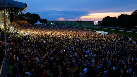 A Newmarket Nights concert at Newmarket Racecourses.