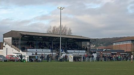 Weston Rugby Club Stand at The Recreational Ground.