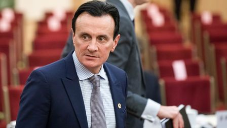 Pascal Soriot, chief executive officer of Astrazeneca Plc attends the CEO council at the Great Hall
