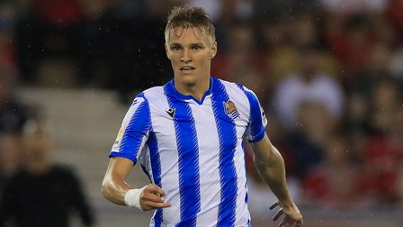 File photo dated 26-07-2019 of Real Sociedad's Martin Odegaard. Issue date: Wednesday January 27, 20