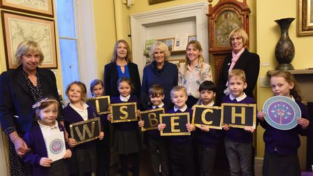 Children in Wisbech were treated to a visit from The Duchess of Cornwall who presented them with 50 books