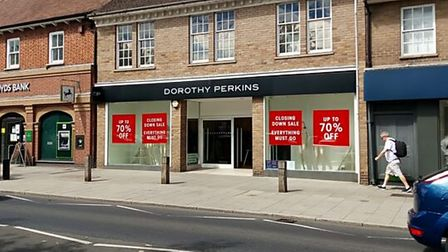 The Dorothy Perkins store in St Neots High Street closed down last August.