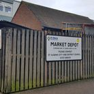 The site of St Albans Charter Market depot in Drovers Way.