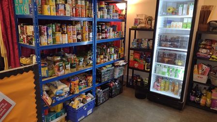 The pantry was able to get a fridge to keep fresh produce.