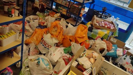 """""""Overwhelmed"""" by the four car loads of donations from Harold Wood Primary."""