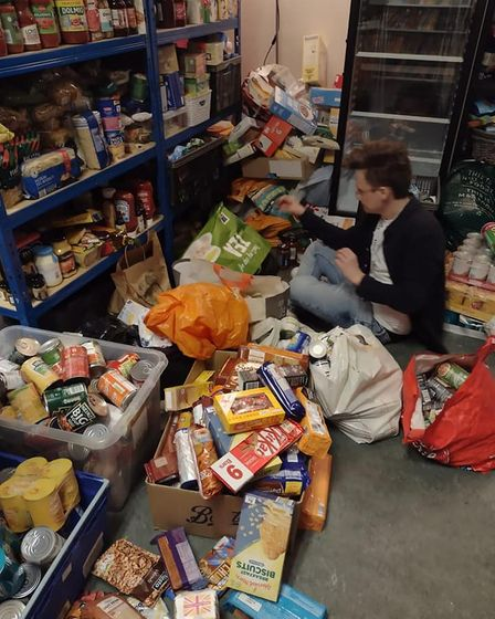 It took the team a few days to sort thought all the generous donations.