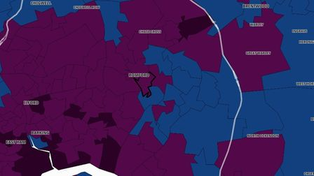 Most wards in Havering are now have rolling rates between 200 and 399, which is the second highest category.