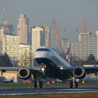 International flights resume at London City Airport in Royal Docks today. Picture: Andrew Baker