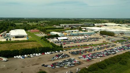 Copart site in Wisbech that is expanding to cope with increased demand.