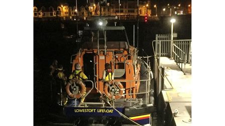 A previous early morning call-out for the Lowestoft RNLI Lifeboat.