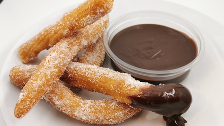 Mike's Patisserie - Churros with warm chocolate sauce