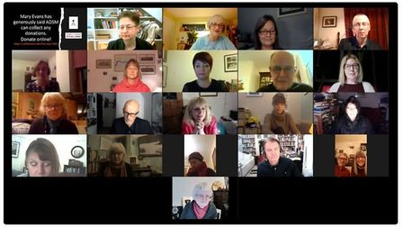 Audience members and poets during the online Kaleidoscope of Poetry event hosted by Arts Destination South Molton
