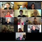 Audience members and poets during the onlineKaleidoscope of Poetry eventhosted by Arts Destination South Molton
