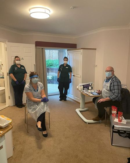 COVID-19 vaccines at Melbourn Springs Care Home