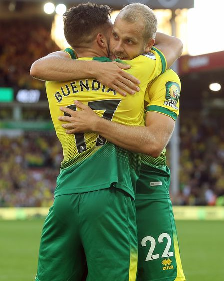 Norwich City duo Teemu Pukki and Emi Buendia are class acts in the Championship for Ben Gibson