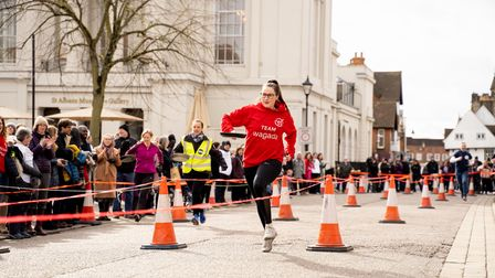 St Albans Pancake Race 2020 - picture by Stephanie Belton.