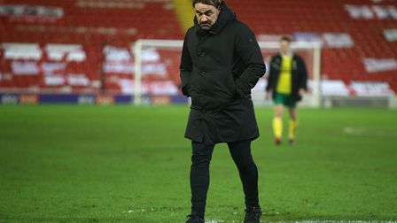 Norwich Head Coach Daniel Farke at the end of the FA Cup match at Oakwell, BarnsleyPicture by Paul