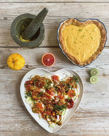 Recipes for Blood Orange Salad and Bergamot tart