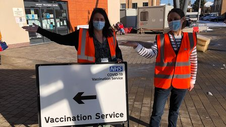 CambridgeshireFireand RescueServicestaffis supporting vaccination sites around the county.
