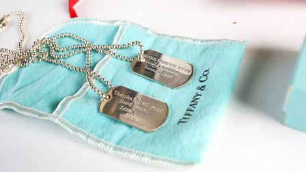 Dog tags presented to the late costume designer Patrick Wheatley for his work on the film Saving Private Ryan went under...