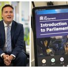 Students from Caterham and Oaks Park High School took a virtual tour of Parliament and grilled MP Wes Streeting.