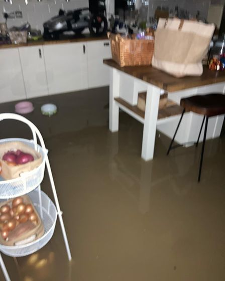 Flooding in Buckden house