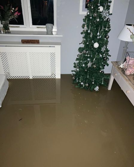 Flooding in Buckden home
