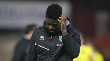 Alexander Tettey of Norwich looks dejected at the end of the FA Cup match at Oakwell, BarnsleyPict
