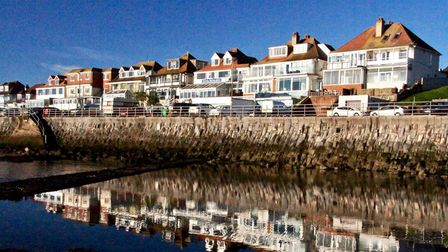 Guest houses and hotels overlooking Preston beach