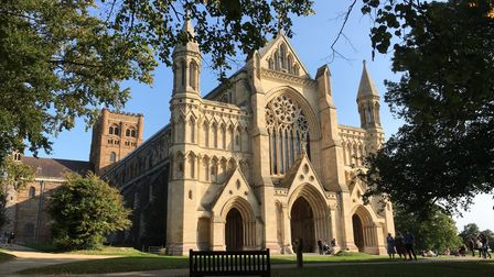 St Albans Cathedral in the September sun. Picture: Alan Davies