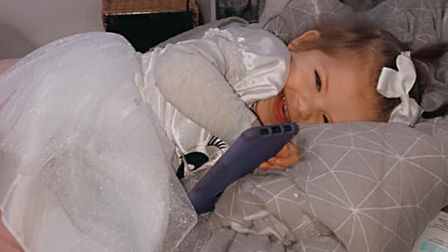 Ipswich toddler Ireland Banham, two, is finally in remission from cancer