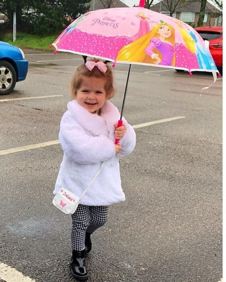 A recent picture of Ireland. The youngster has finished treatment forNeuroblastoma and is in remission