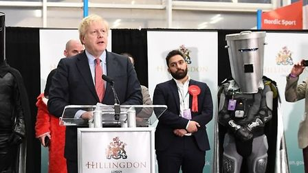 Count Binface and Boris Johnson at the 2019 general election. Photograph: PA Wire.