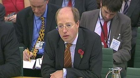 Former civil servant Sir Philip Rutnam. Photograph: Parliament TV.