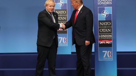 Prime Minister Boris Johnson and US President Donald Trump during the annual Nato heads of government summit