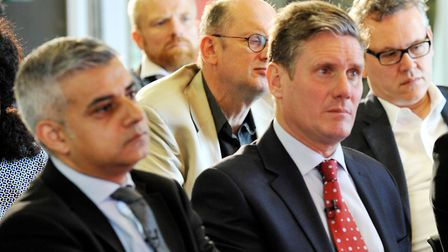 (left to right) Sadiq Khan with Keir Starmer. Photograph: Nick Ansell/PA.