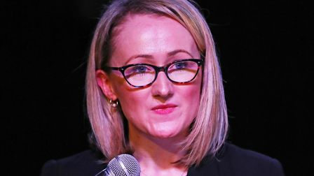 Labour leadership candidate Rebecca Long-Bailey speaks to supporters at a campaign event in Hackney, London. Picture: PA...