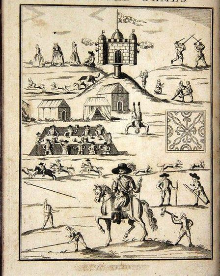 Frontispiece of Annalia Dubrensia - upon the yeerely celebration of Mr Robert Dover's Olimpick Games