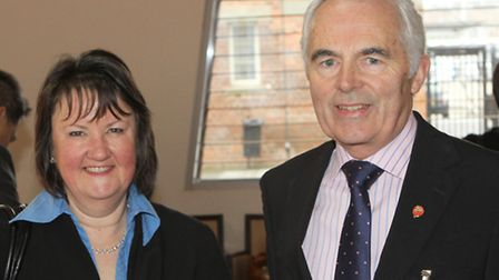 Jan Sullivan from English Mutual and David Brennan from Building Solutions