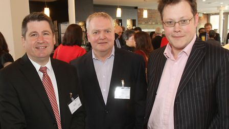 Mark Owen from Moose Marketing and PR with Chris Stock from EBC Group and Nick Southwell from Taynto