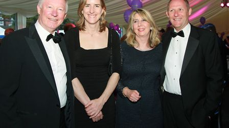Sir Alex Ferguson with Olympic rower, Katherine Grainger, June Coppel and Gordon More