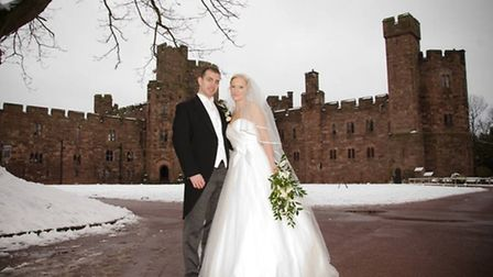 Buxton and Molphy The wedding of Stephanie Buxton and John Molphy took place at Peckforton Castle,