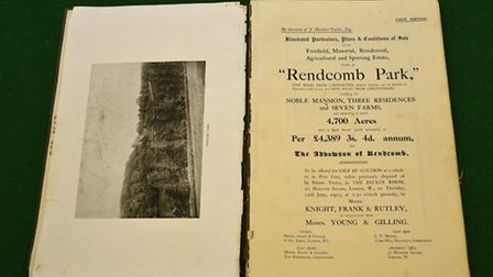 An original copy of the Rendcomb Park auction catalogue from June 12, 1913