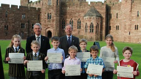 Cheshire CPRE Chairman, Andrew Needham, with President, Lord Grey of Codnor, with the award winners