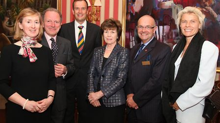 Gill Broad, Graham Gigg, Matthew Morris, Diana Barbour, Canon Keith Ineson and Didy Morgan